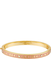 COACH - Pave Hinged Enamel Bangle Bracelet