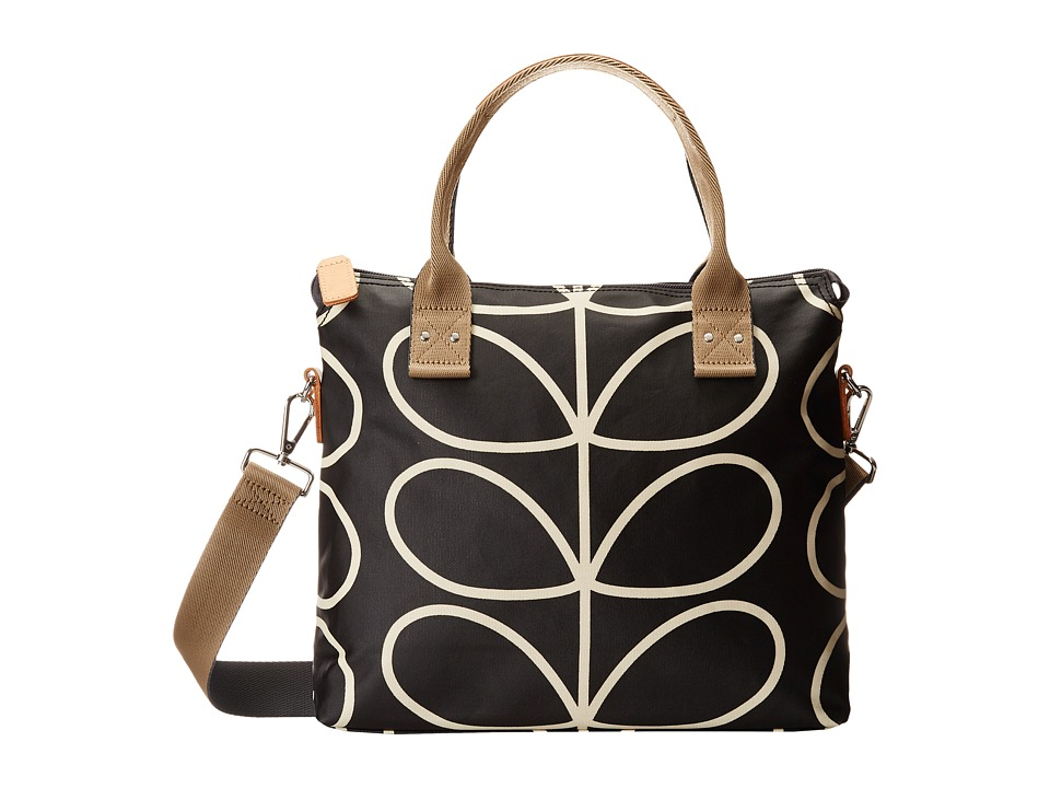 Orla Kiely - Zip Messenger (Liquorice) Satchel Handbags