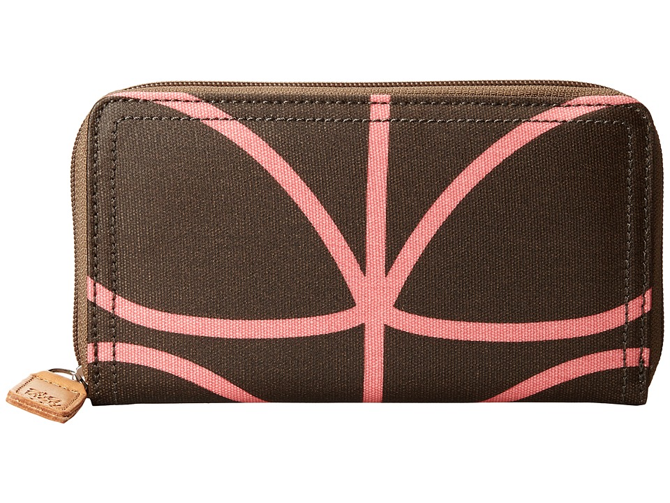 Orla Kiely Big Zip Wallet Nutmeg Wallet Handbags