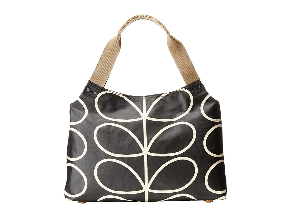 Orla Kiely - Classic Zip Shoulder Bag (Liquorice) Shoulder Handbags