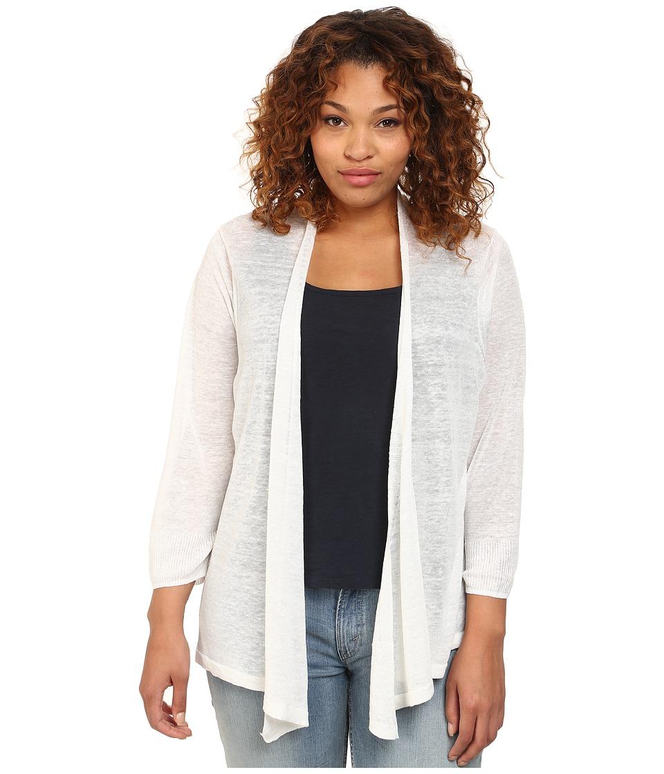 Nic+Zoe Plus Size 4-Way Cardy (Paper White) Women's Sweater