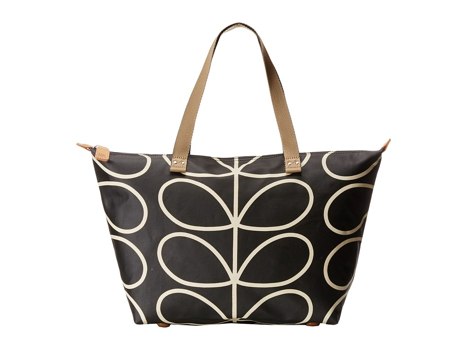 Orla Kiely - Zip Shopper (Liquorice 1) Tote Handbags