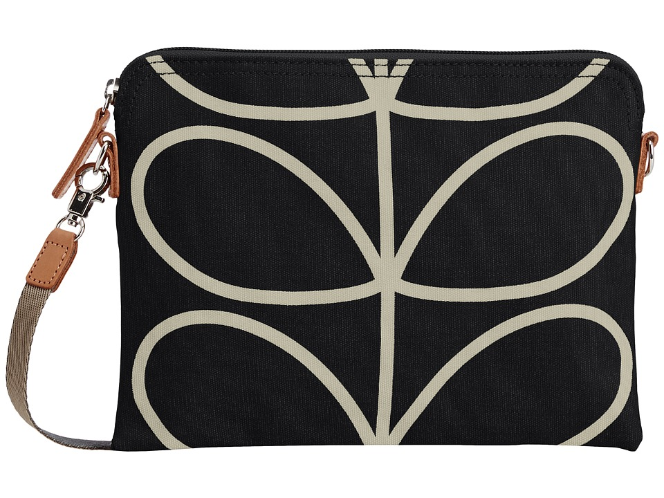 Orla Kiely - Travel Pouch (Liquorice) Cross Body Handbags
