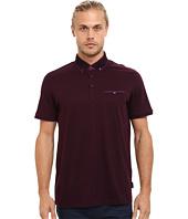 Ted Baker - Rowhan Short Sleeve Texture Flatknit Collar Polo