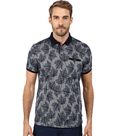 Ted Baker - Fastfil Leaf Print Short Sleeve Oxford Polo
