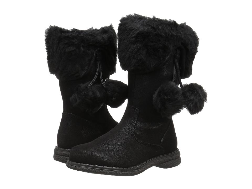 Rachel Kids Athena Toddler/Little Kid Black Suede Girls Shoes