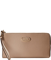 COACH - Refined Grain Leather Zip Wallet