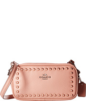 COACH - Lacquer Rivets Polished Pebbled Crossbody Pouch