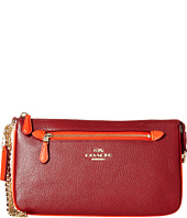COACH - Color Block Polished Pebbled Leather Nolita Wristlet 24