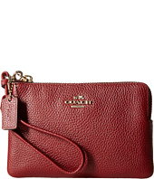 COACH - Polished Pebble Corner Zip