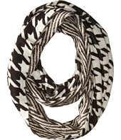 MICHAEL Michael Kors - Houndstooth/Twill Raschel Small Infinity Scarf