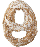 MICHAEL Michael Kors - Jet Set Logo with Lurex Small Infinity Scarf