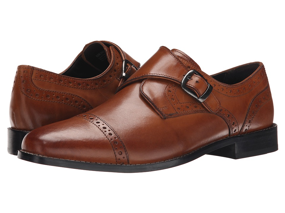 Nunn Bush Newton Cap Toe Monk Strap (Cognac) Men