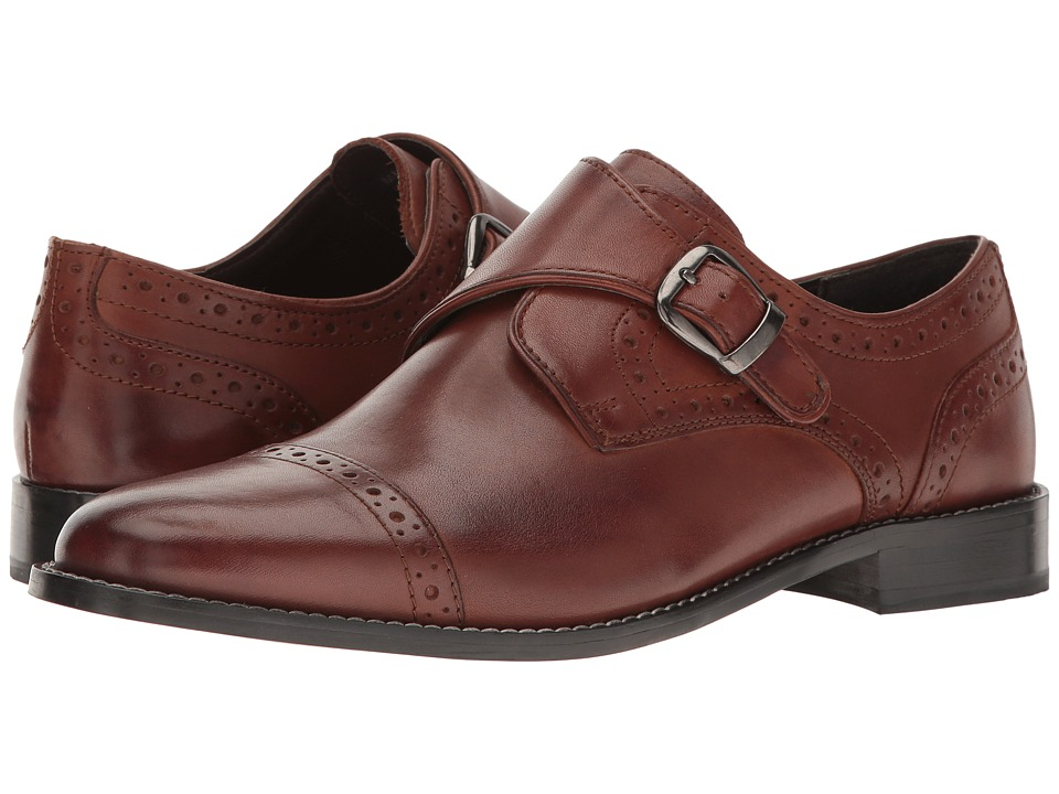 Nunn Bush Newton Cap Toe Monk Strap (Brown) Men