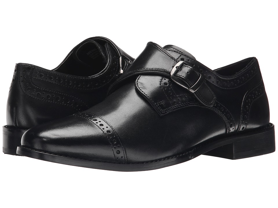 1960s Men's Clothing, 70s Men's Fashion Nunn Bush - Newton Cap Toe Monk Strap Black Mens Monkstrap Shoes $67.95 AT vintagedancer.com