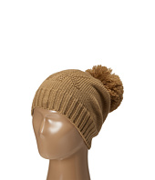 MICHAEL Michael Kors - Seed Stitch Hat with Self Knit Pom Pom