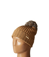 MICHAEL Michael Kors - Fisherman Rugby Cuff Hat with Self Knit Multicolor Pom Pom