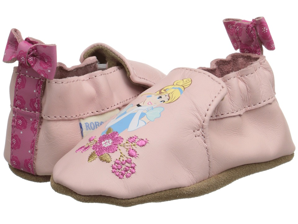 Robeez - Disney(r) Baby By Robeez Cinderella Soft Sole (Infant/Toddler) (Pink) Girls Shoes