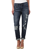 DKNY Jeans - Rip and Repair Bowery Boyfriend in Medium Indigo