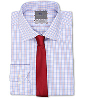 Thomas Dean & Co. - Non-Iron Long Sleeve Woven Dress Shirt w/ Point Collar Classic Check