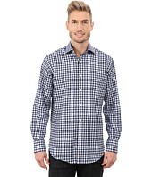 Thomas Dean & Co. - Long Sleeve Woven Embroidered Check