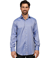 Thomas Dean & Co. - Long Sleeve Woven Herringbone w/ Dobby