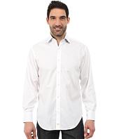 Thomas Dean & Co. - Long Sleeve Woven Textured Stripe