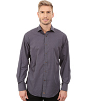 Thomas Dean & Co. - Long Sleeve Woven Mini Check w/ Dobby
