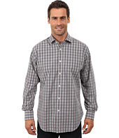Thomas Dean & Co. - Long Sleeve Woven Windowpane Plaid