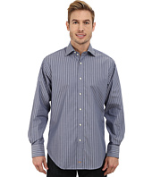 Thomas Dean & Co. - Long Sleeve Woven Sateen Stripe