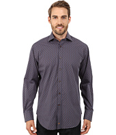 Thomas Dean & Co. - Long Sleeve Woven Modern Stripe w/ Dobby