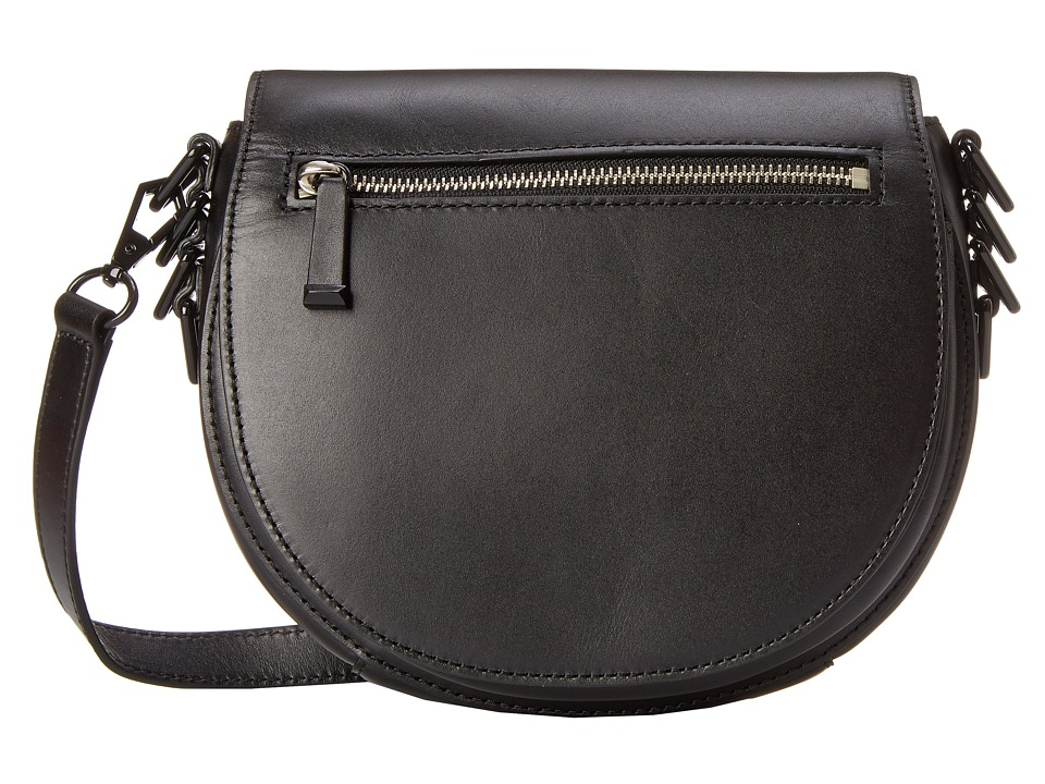 Rebecca Minkoff - Astor Saddle Bag (Black) Handbags