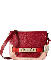 COACH - Color Block Pebble Leather Small Swagger Shoulder Bag