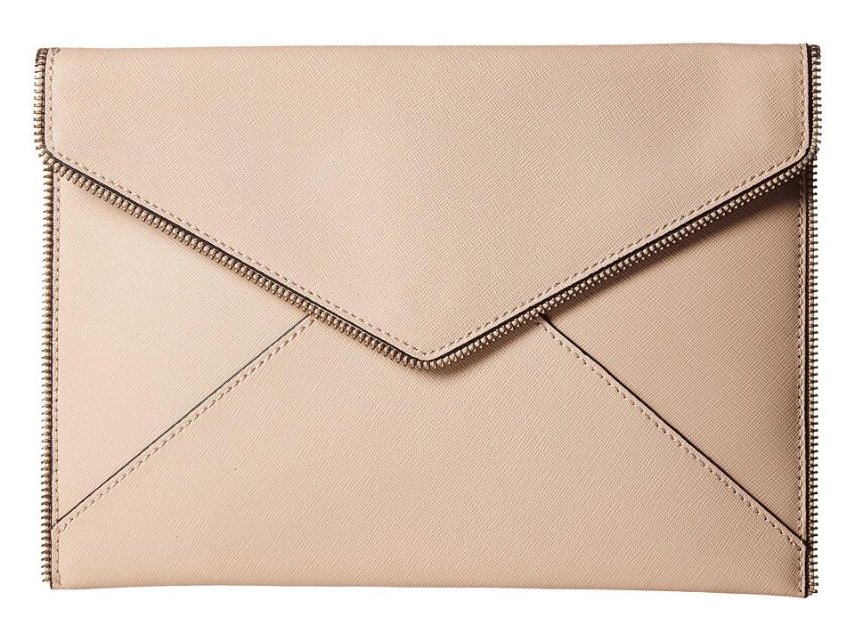 Rebecca Minkoff - Leo Clutch (Latte) Clutch Handbags