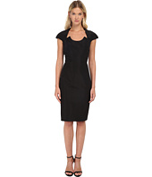 Zac Posen - Fitted Dress with U-Neckline Cutout and Cap Sleeves