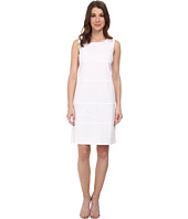 Anne Klein - Eyelet/Cotton Combo Shift Dress