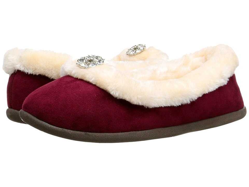 Daniel Green Clarice Burgundy Womens Slippers