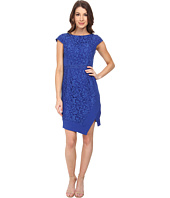 Adrianna Papell - Mixed Media Cap Sleeve Crepe and Lace Dress