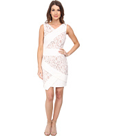 Adrianna Papell - Mixed Media Sleeveless Crepe and Lace Dress