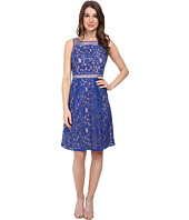 Adrianna Papell - Splice Seam Detail Lace Fit and Flare Dress