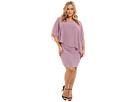 Plus Size Chiffon Drape Overlay with Banding Dress