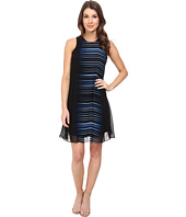 Calvin Klein - Scoop Neck Flared Dress