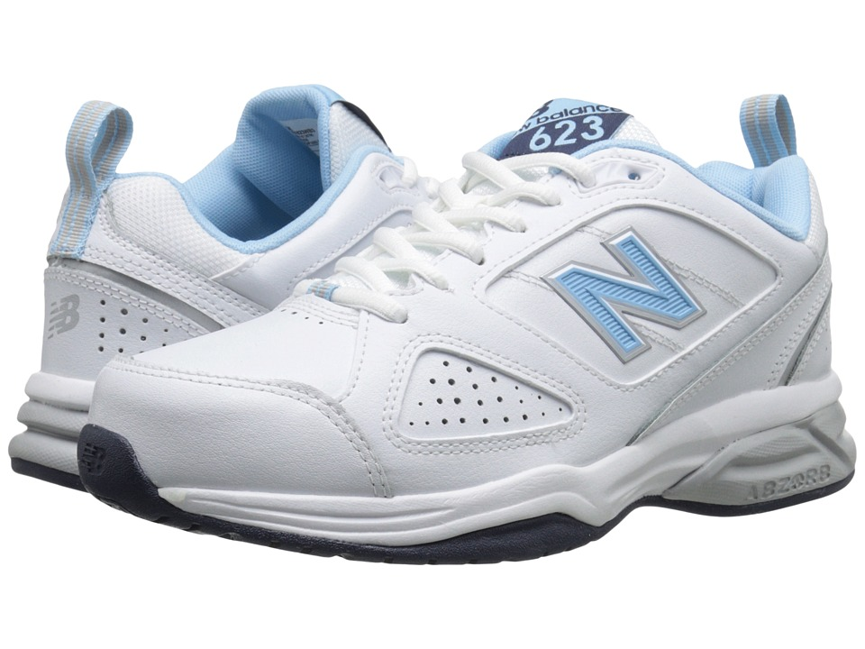 New Balance - WX623v3 (White/Blue) Womens Shoes