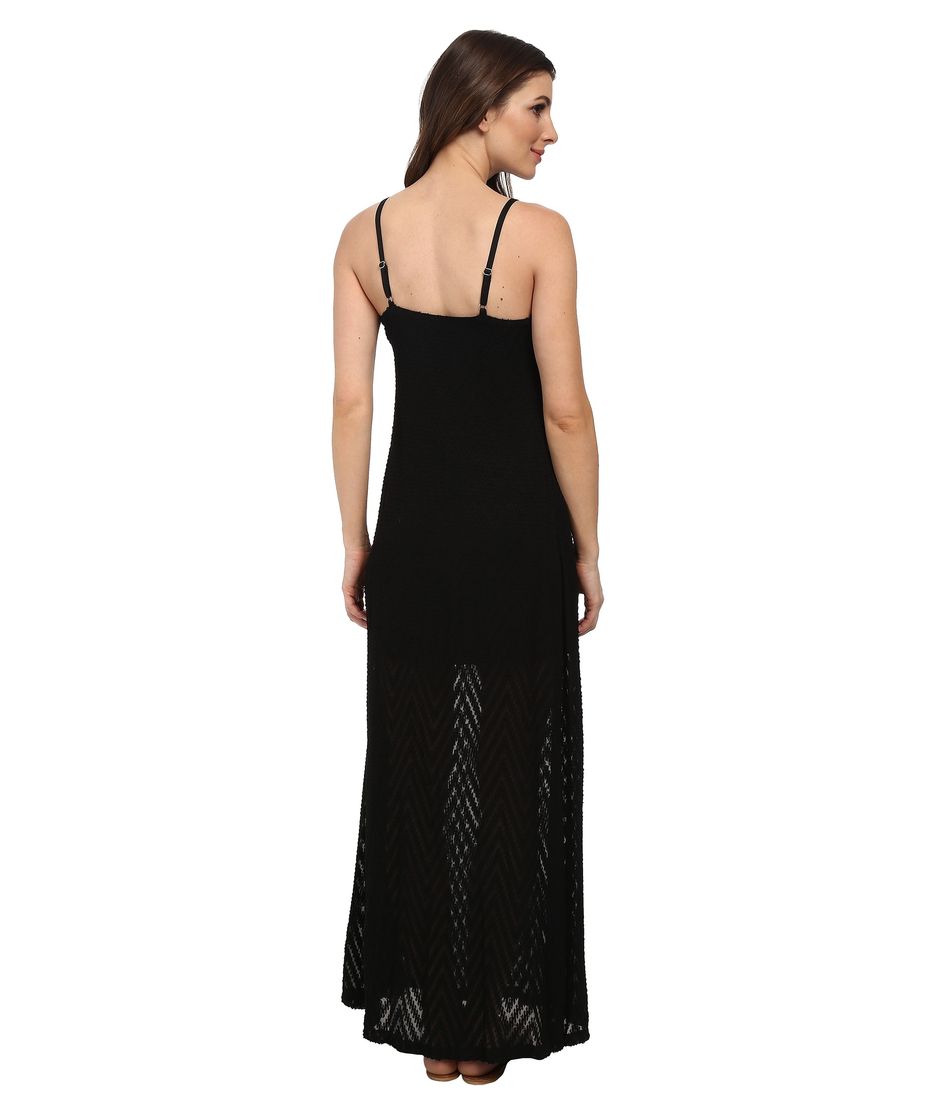 calvin klein sleeveless slip strap maxi dress latest. Black Bedroom Furniture Sets. Home Design Ideas