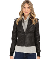 Levi's® - Smooth Lamb Leather Asym Moto w/ Quilting Details