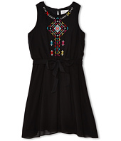 Us Angels - Sleeveless w/ Embroidery & Tie Belt Dress (Big Kids)