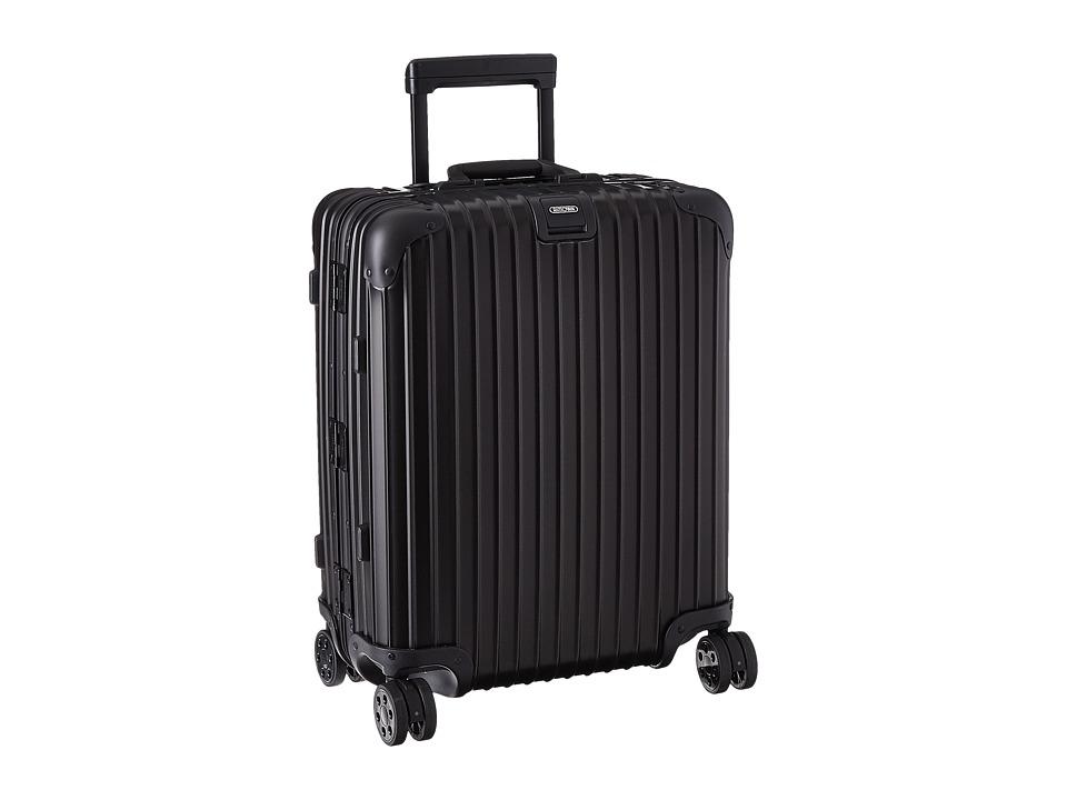Rimowa - Topas Stealth - Cabin Multiwheel 56 (RHD) (Black) Luggage