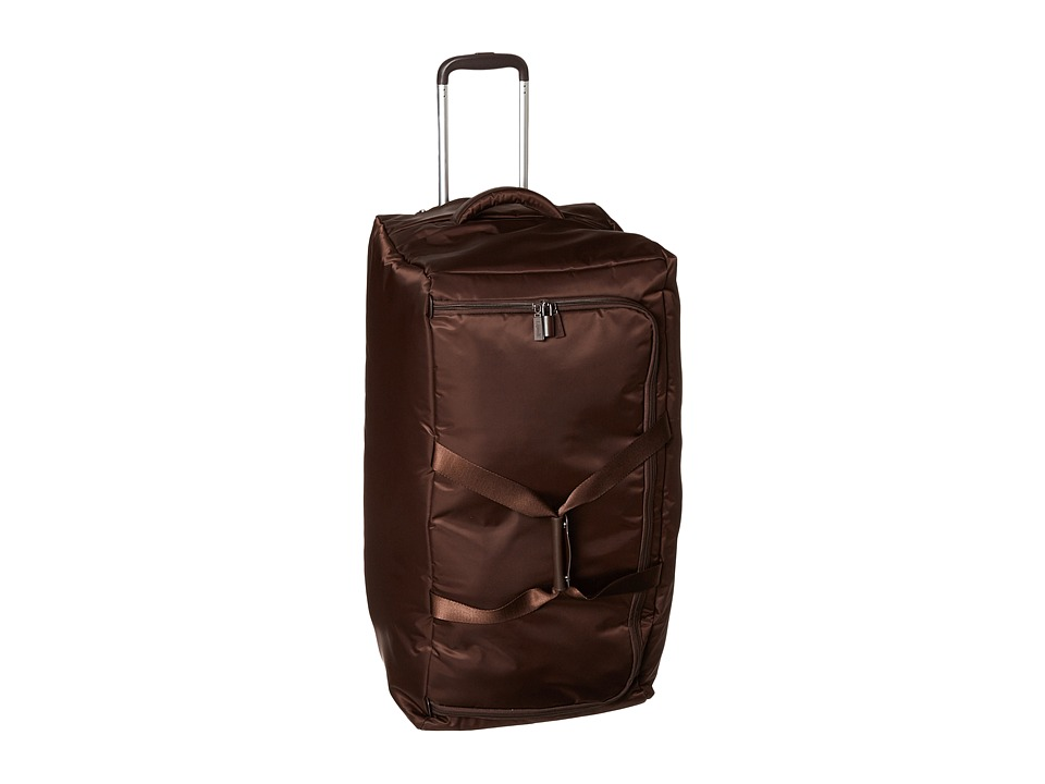 Lipault Paris - 0% Pliable 30 Wheeled Duffel (Espresso) Duffel Bags