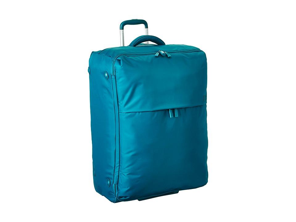 Lipault Paris Foldable 2 Wheeled 28 Packing Case Aqua Luggage