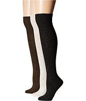 HUE - Cuffed Tweed 3-Pack Knee Sock